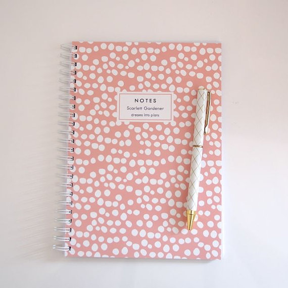 Personalized Notebook - Spots by    LetterLoveDesigns