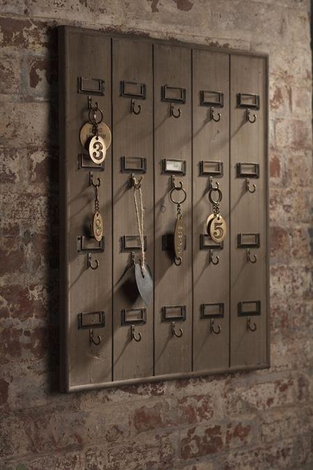 Vintage Reclaimed Wooden Hotel Key Rack by   LuxuryForLessPVB