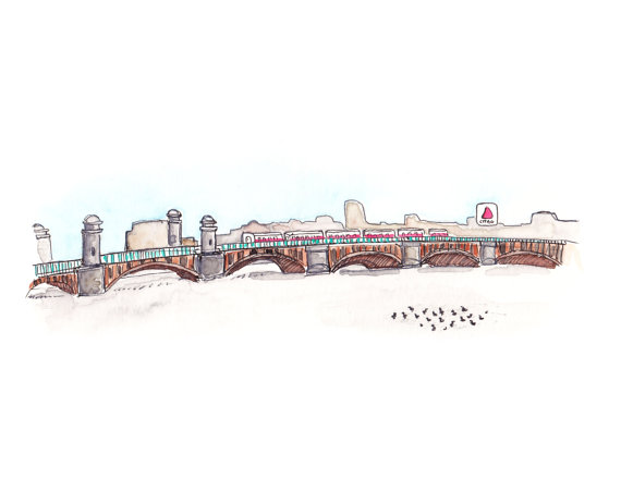 Frozen Charles River by   crimsoncranestudios