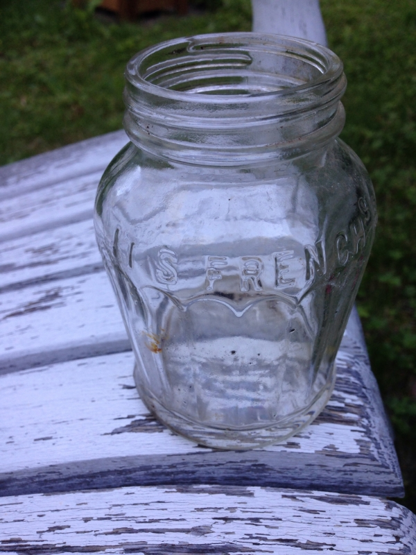 Vintage French's Mustard Glass Bottle
