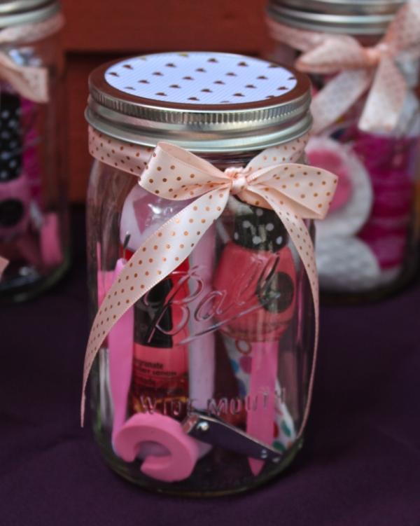 Manicure Or Pedicure In A Mason Jar Gift Idea Weekend Craft