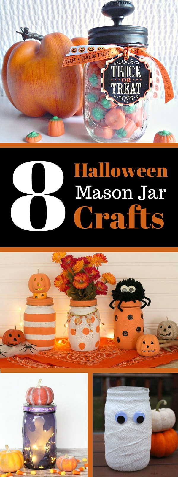 Halloween Mason Jar Mummy Weekend Craft
