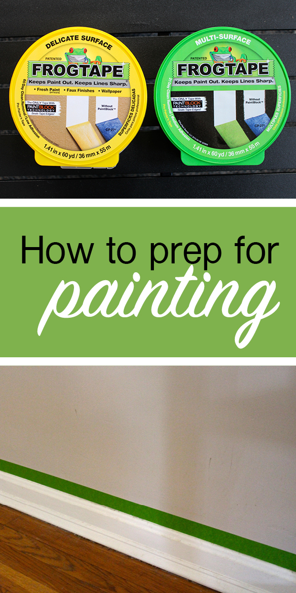 How to prep for painting