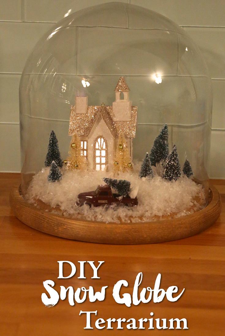 Diy Snow Globe Terrarium Weekend Craft