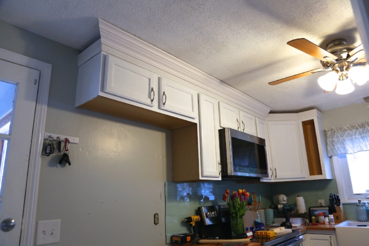 Adding crown molding to your kitchen cabinets  - Weekend Craft