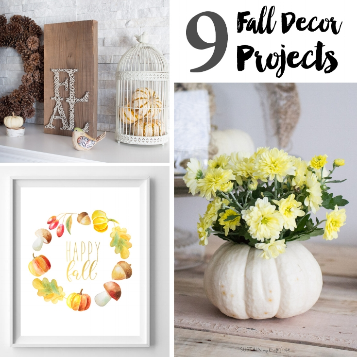 9 DIY Fall Decor Projects - Weekend Craft