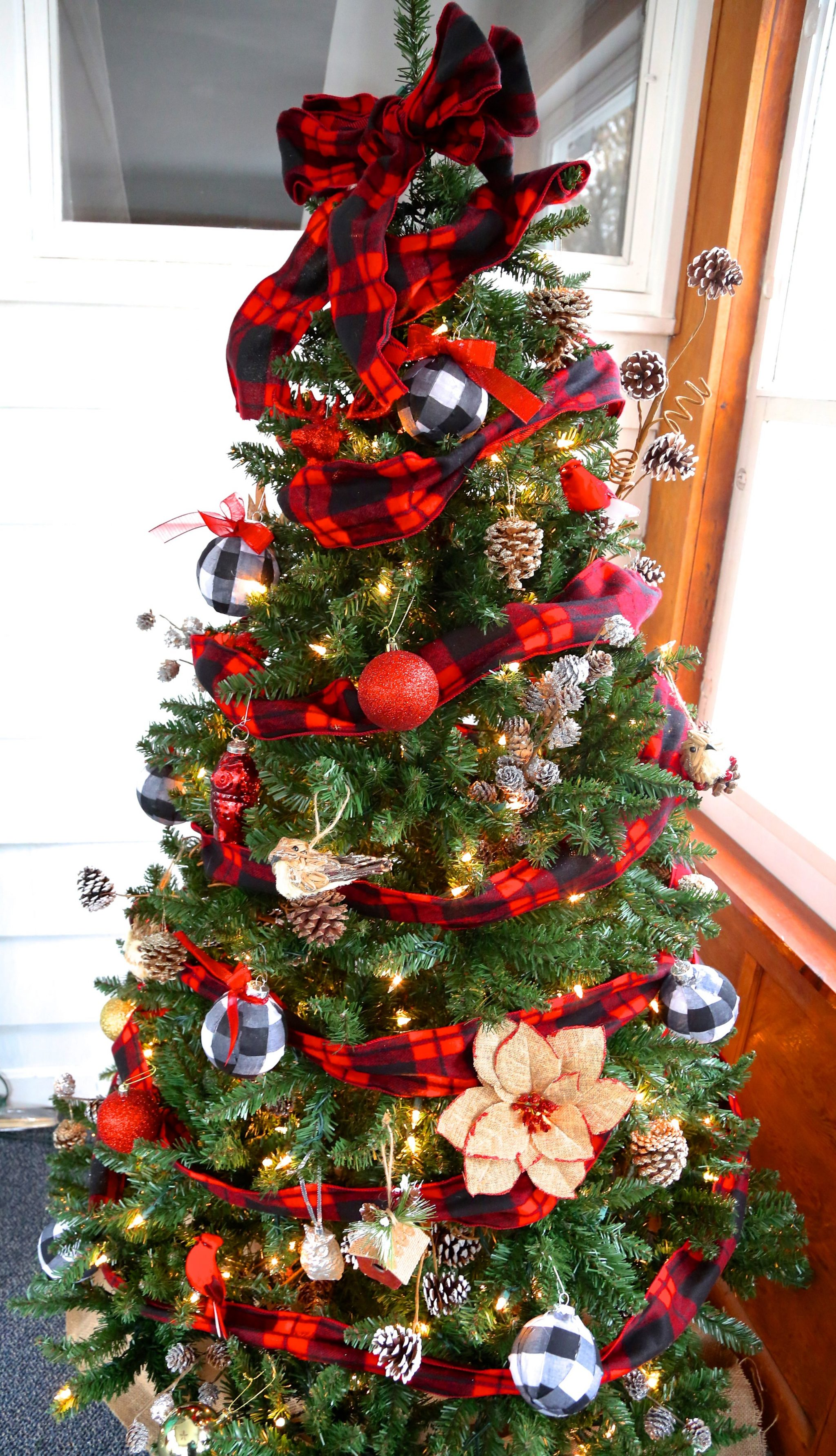 Buffalo Check Christmas Tree Weekend Craft