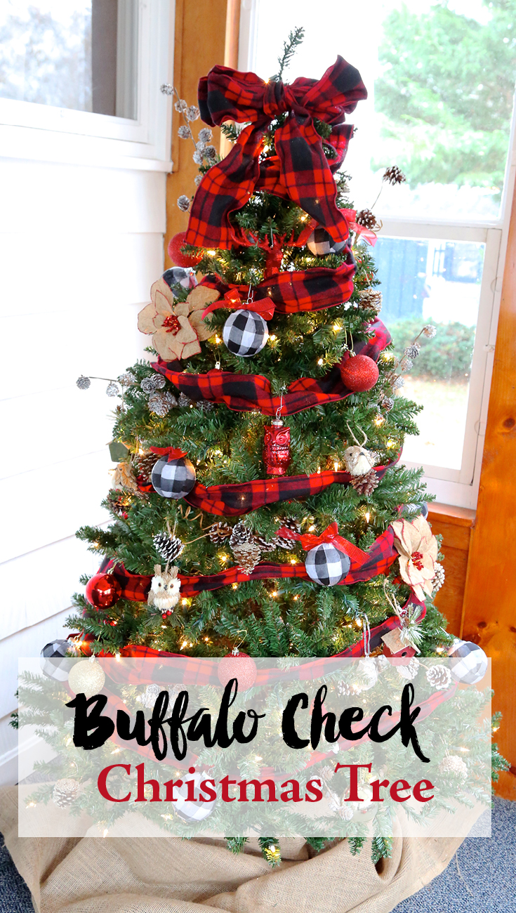 Buffalo Check Christmas Tree Weekend Craft