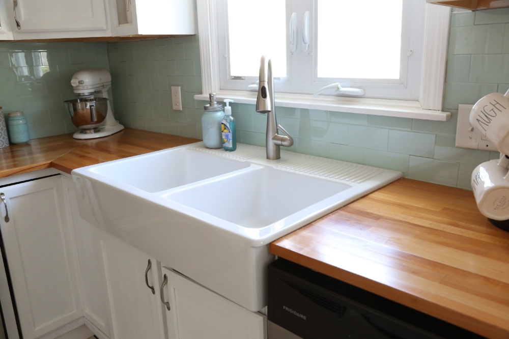 Ikea Apron Front Sink.Ikea Domsjo Farmhouse Sink 1 Year Review Weekend Craft