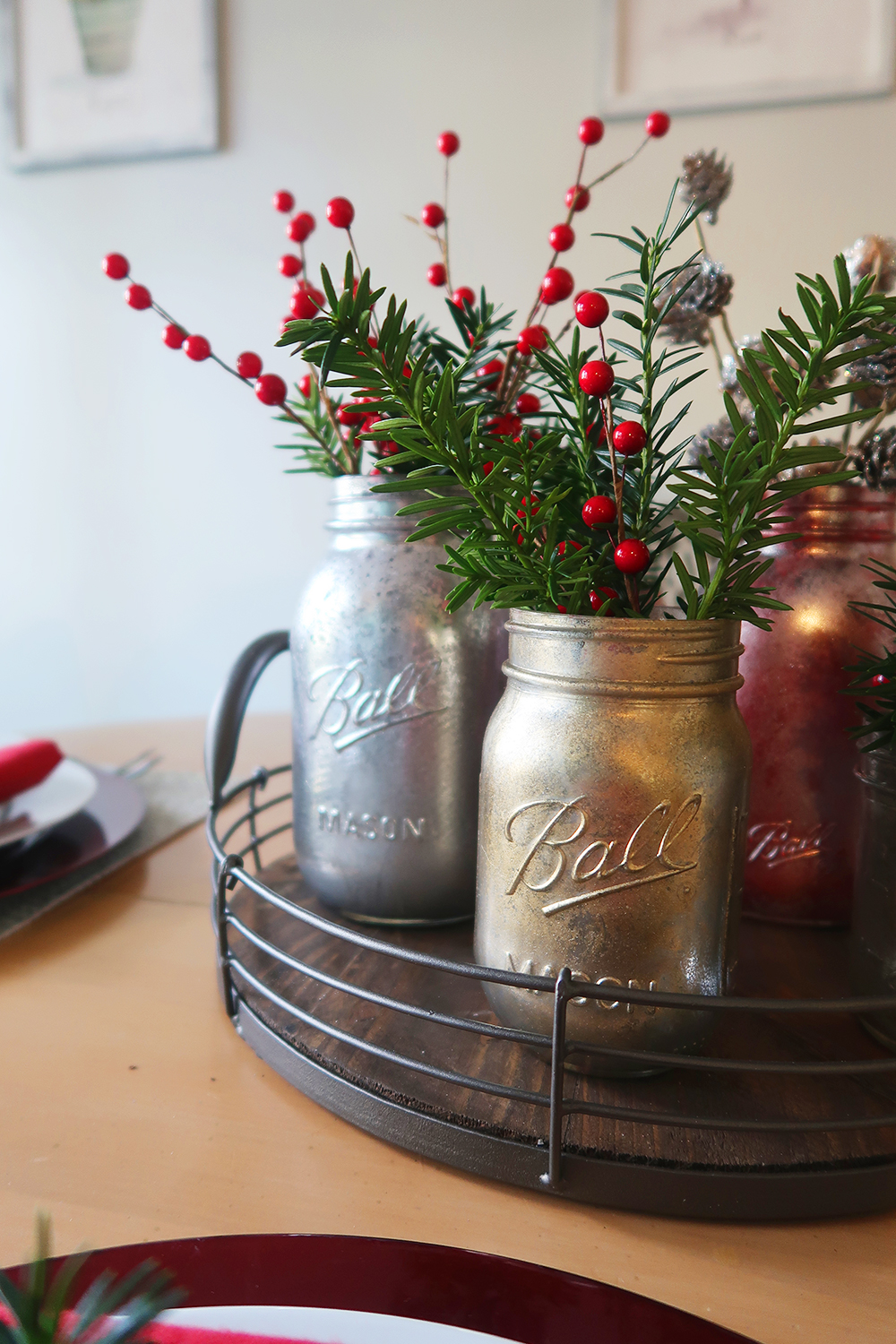 Diy Mercury Glass Mason Jar Vases Weekend Craft