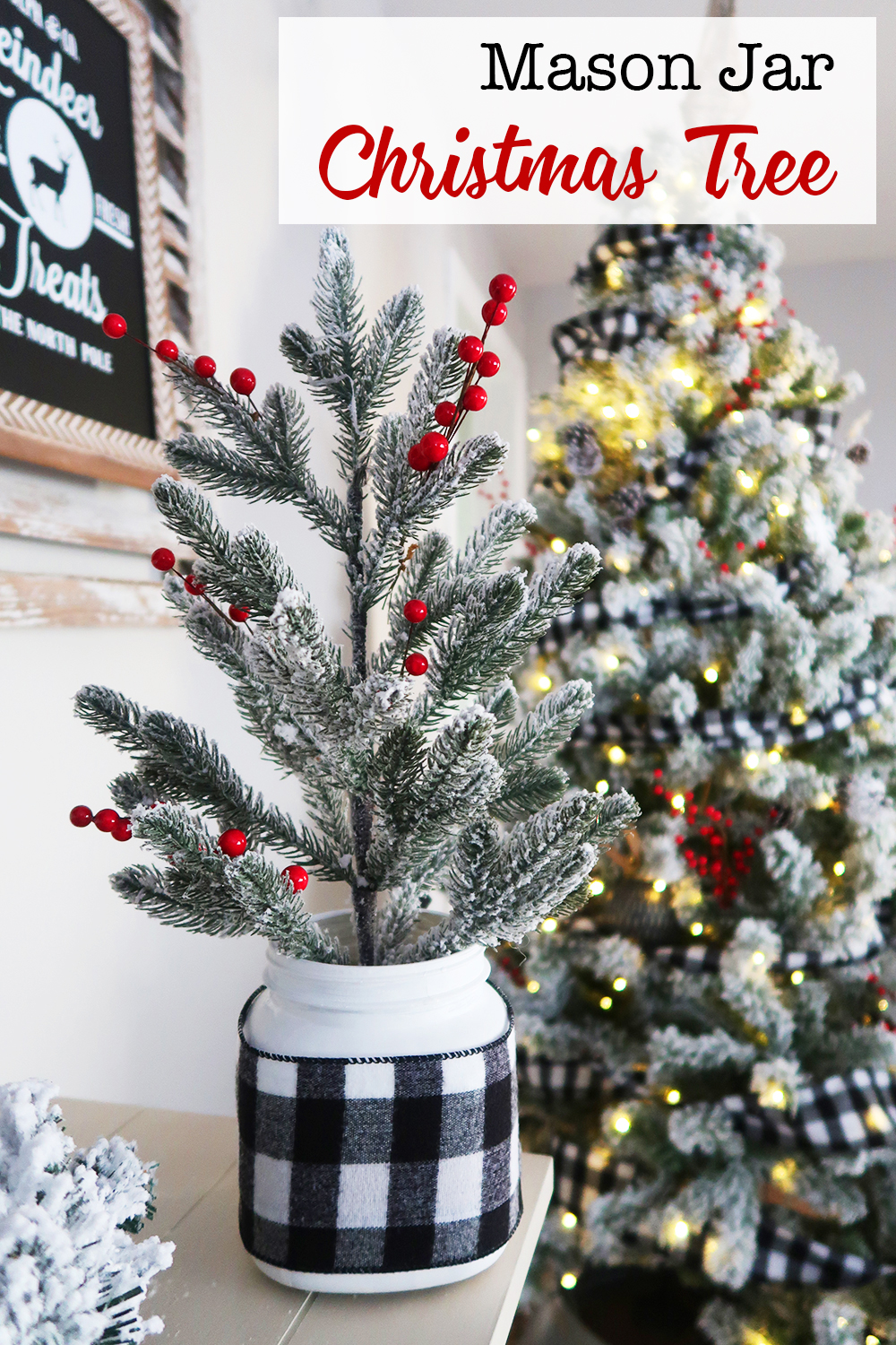Mason Jar Christmas Tree Weekend Craft