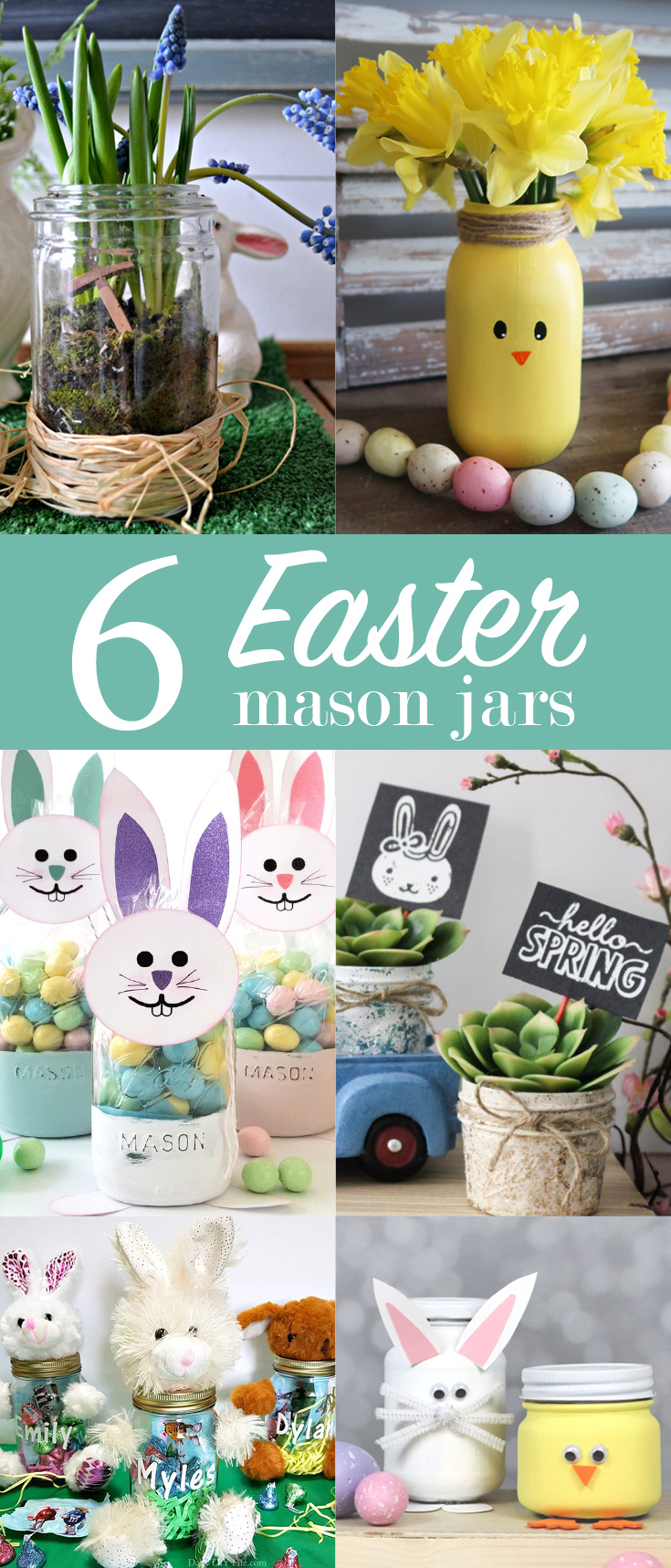 6 Easter Mason Jars