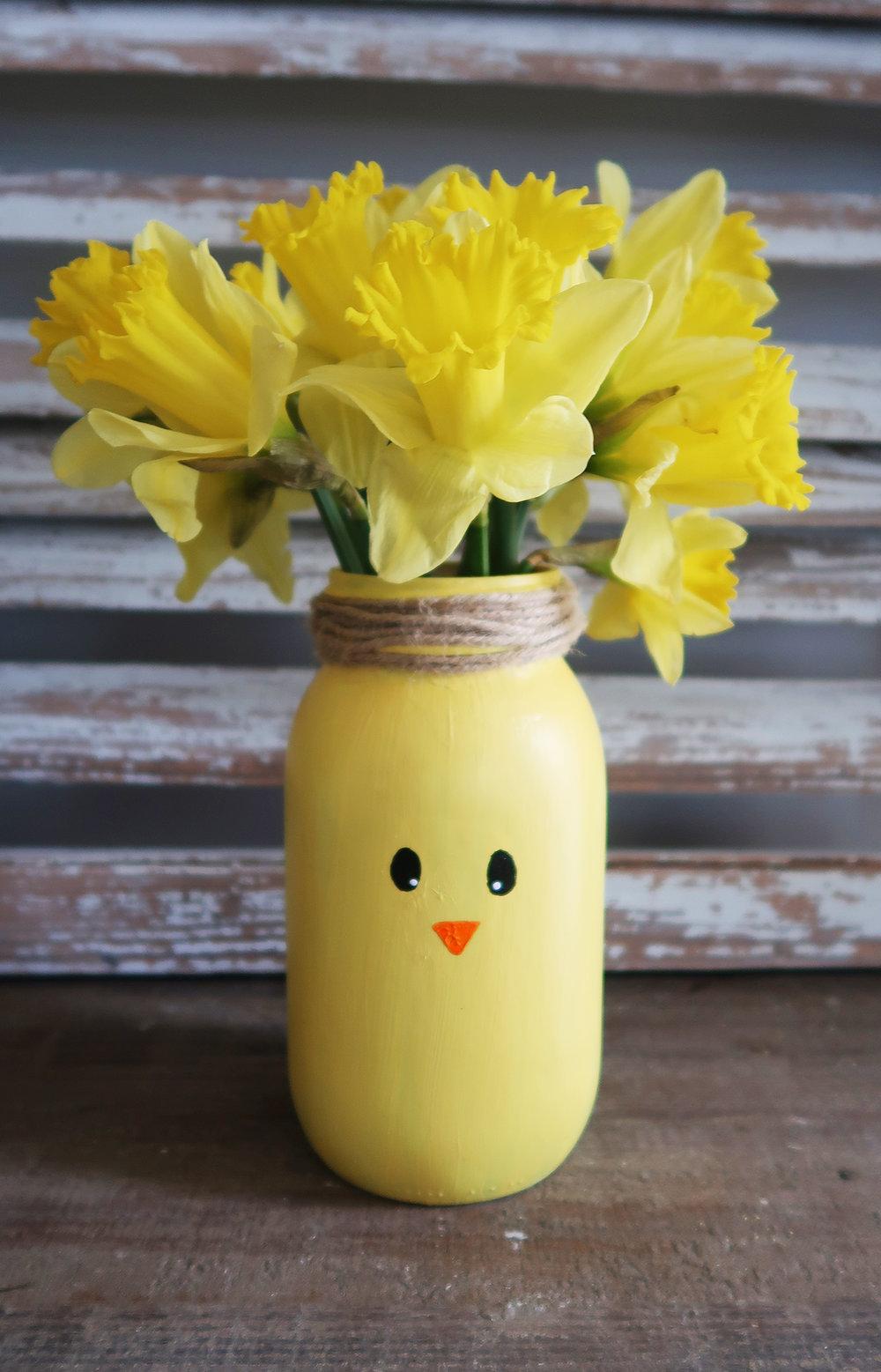 Easter Chick Vase