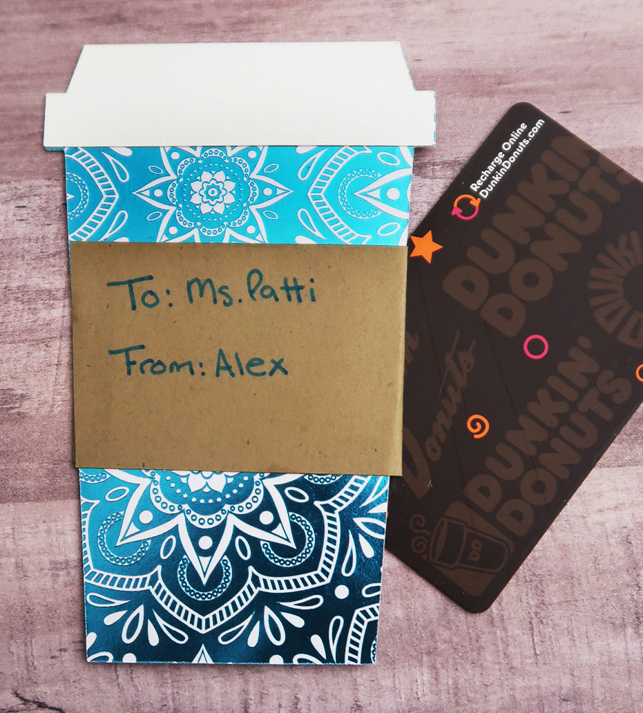 Diy Coffee Cup Gift Card Holder With Free Svg File Weekend Craft
