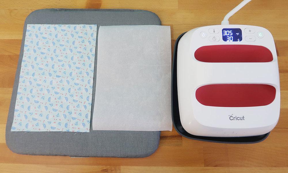 fabric and Cricut machine