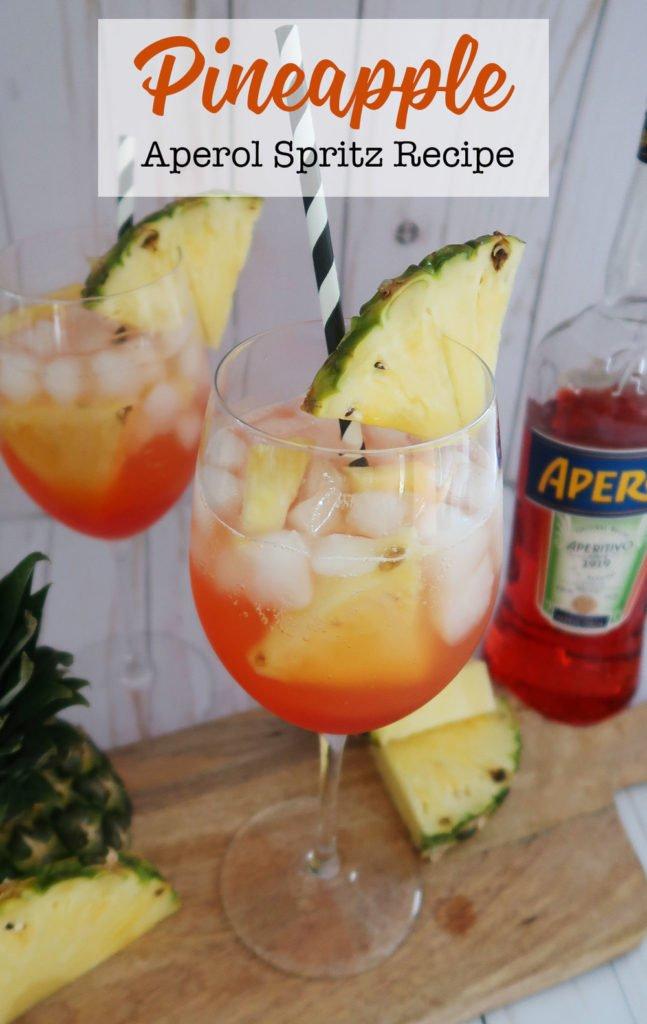 Pineapple aperol spritz