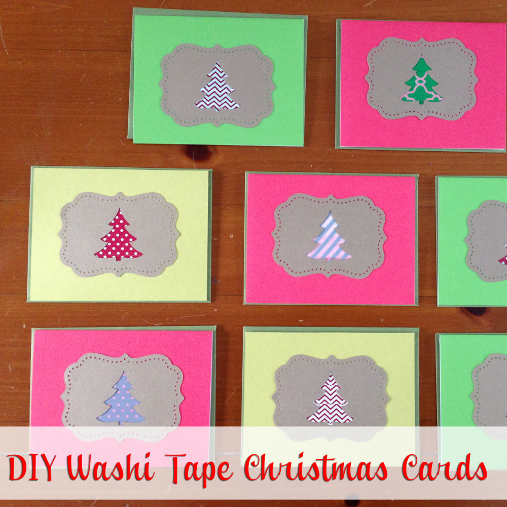 LAST MINUTE DIY WASHI TAPE CHRISTMAS CARDS