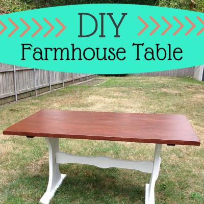 D IY Farmhouse Table Makeover