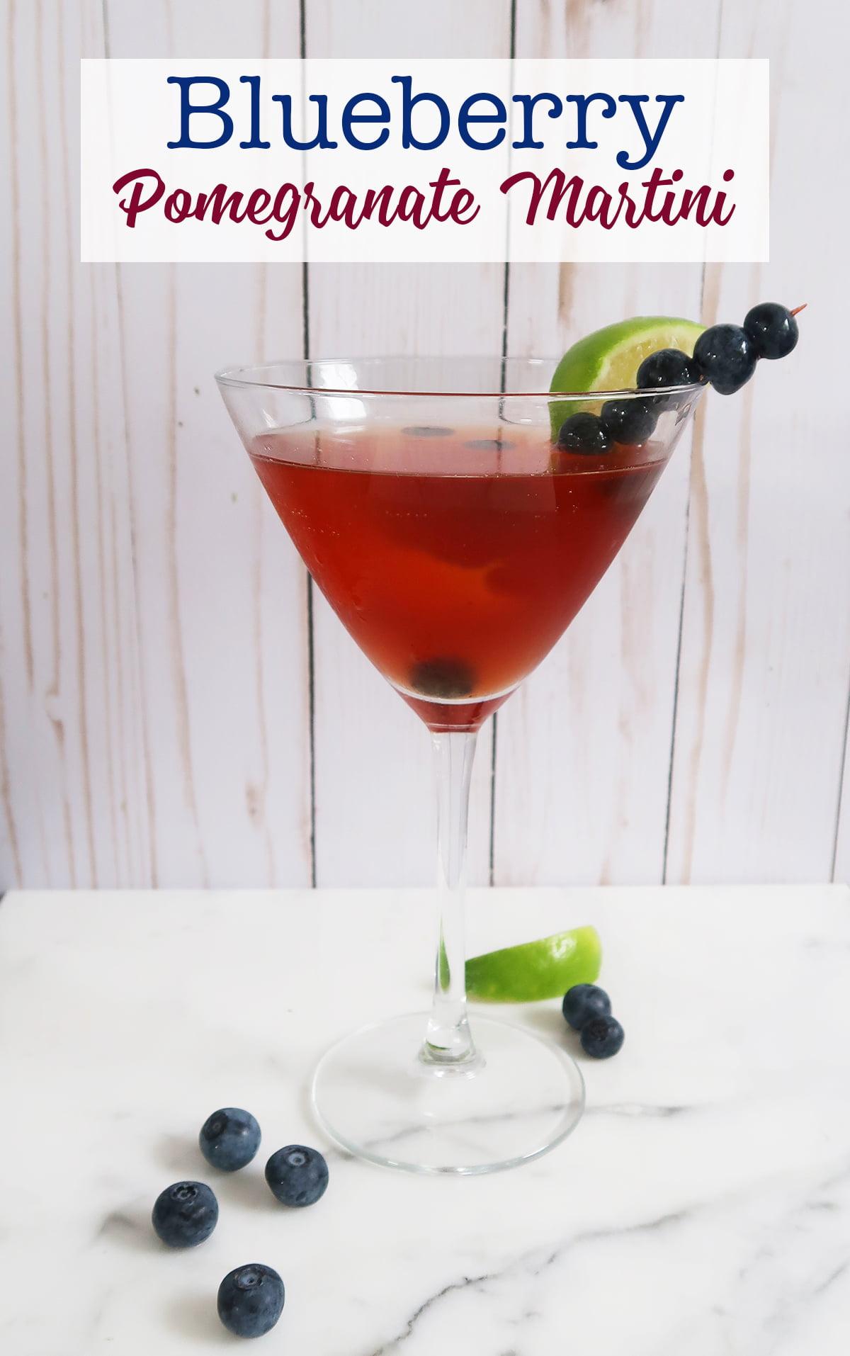 Blueberry Pomegranate Martini recipe