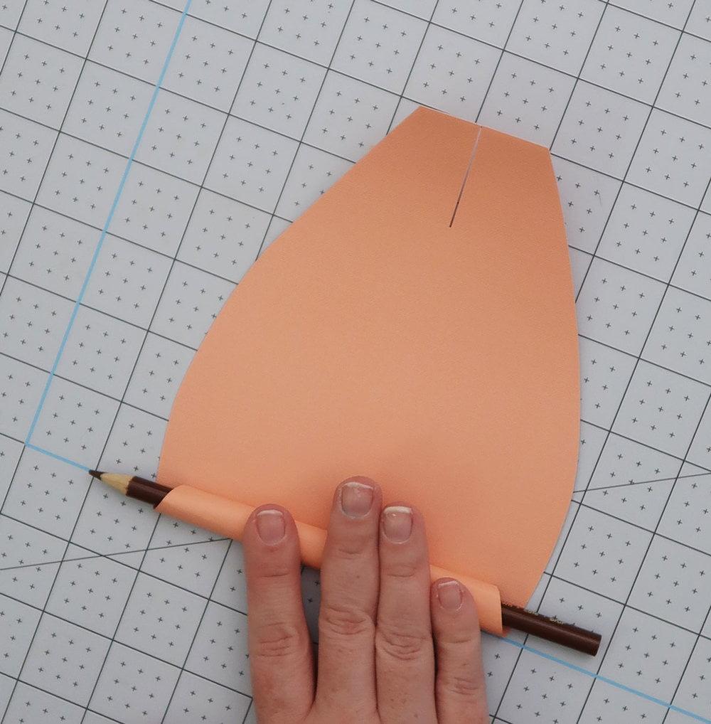 roll the paper petals