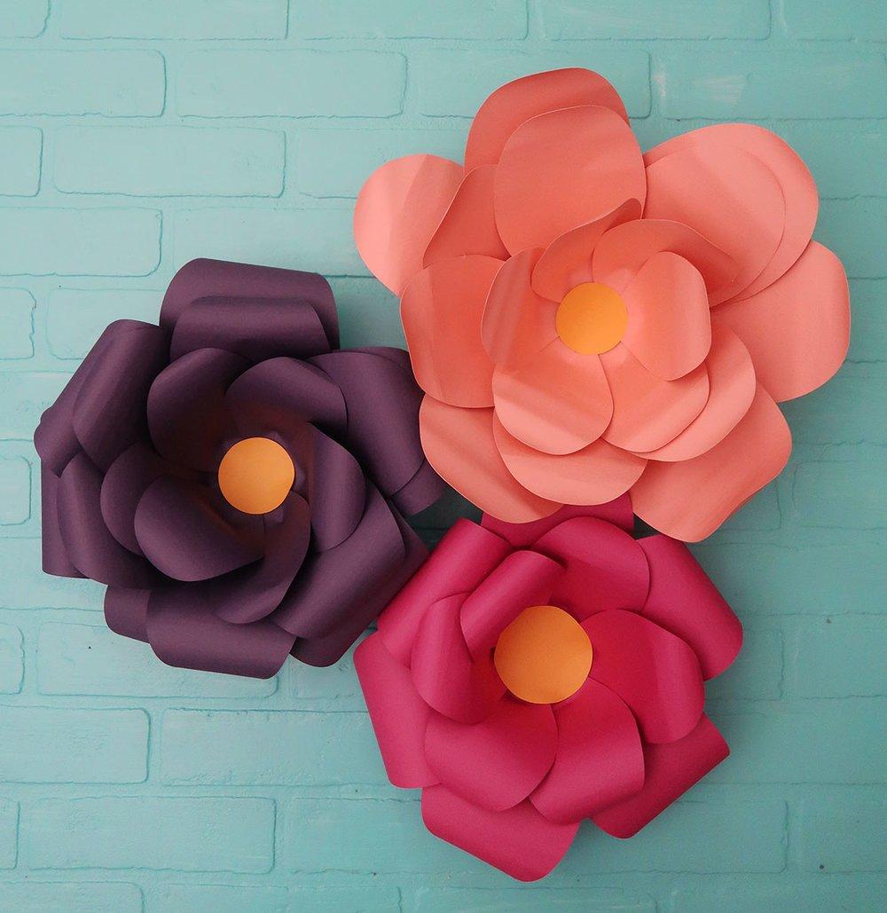 cricut large paper flowers