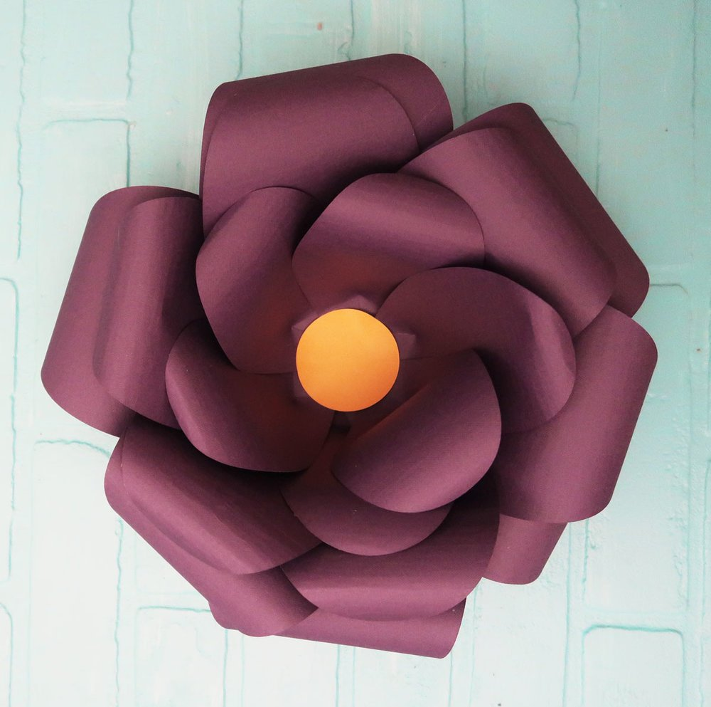 completed large paper flower
